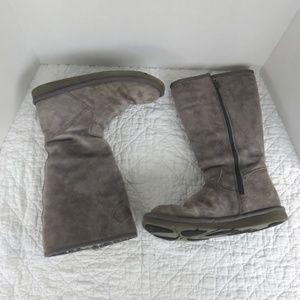 UGG Sunset II Tall Zippered Boots Gray Sz 8